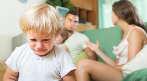 Skilsmissebarn ble lettere forkjølet