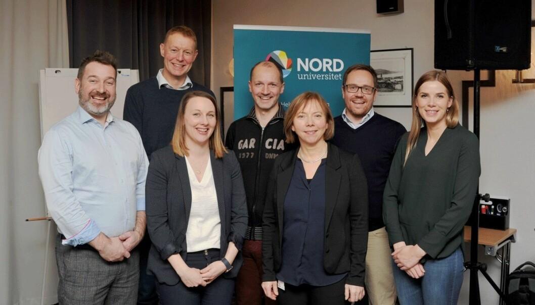 Nord universitet og lokale støttespillere etablerer stipendiatprogram i Steinkjer. Her er den nye faggruppen for Innovasjon og Entreprenørskap ved Handelshøgskolen. (Foto: Nord universitet)