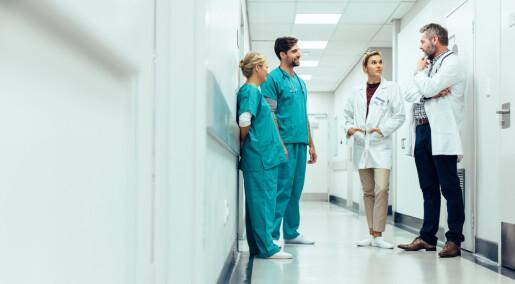 Åpenhet på arbeidsplassen gjør det lettere for helsepersonell å rapportere feil