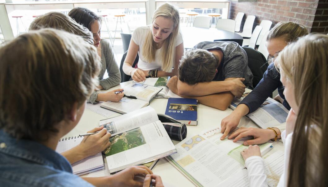 Tidspunktet for skolestart har stor betydning for hvordan elever lærer og presterer, mener amerikanske forsker. (Illustrasjonsfoto: Berit Roald / NTB scanpix)