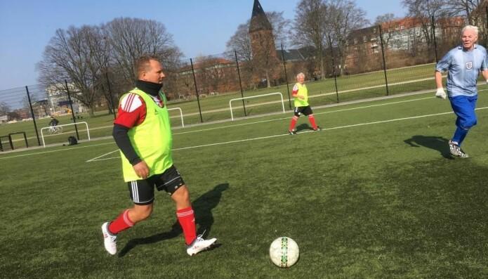 FC Prostata-trening på Østerbro i København. (Foto: DBU)