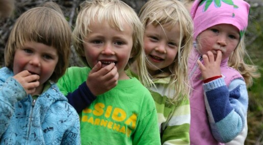 Barn blir glade av å dele