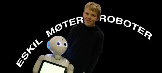 Eskil fikk prøve forskernes roboter