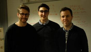 Haakon Haraldsen Roen, Vako Varankian og Stefano Nichele vil at barn skal få være mer sammen med roboter. (Foto: Karoline Spanthus Bjørnfeldt)