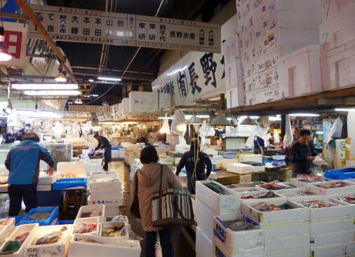 En dag på Tsukij fiskemarked