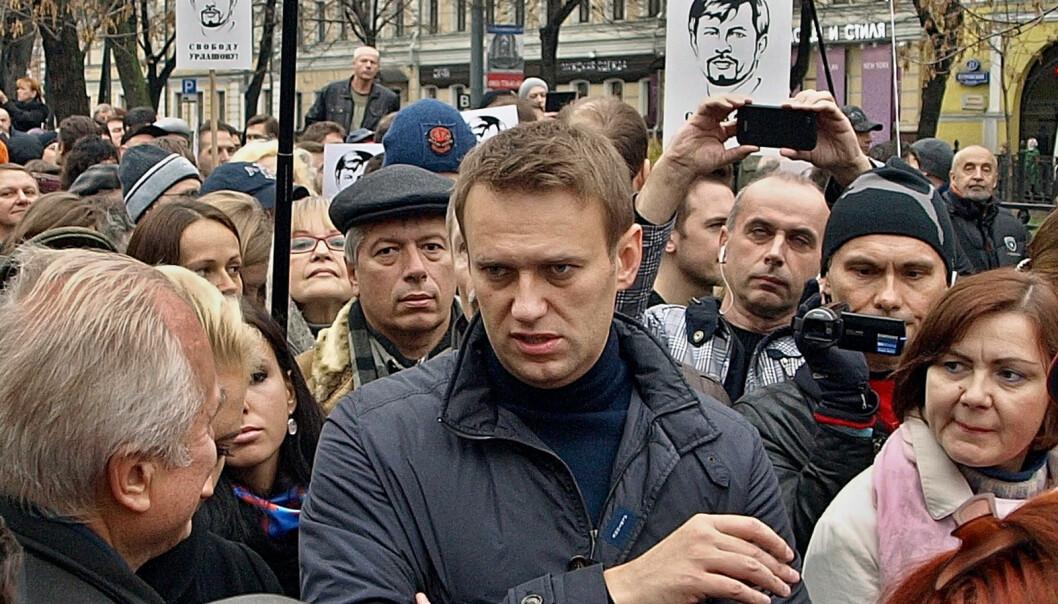 Opposisjonsleder Alexej Nevalnyj under en støttemarkering for politiske fanger i Moskva 27. oktober 2013. ( Foto: Vladimir Varfolomeev / Flickr CC BY-NC 2.0)