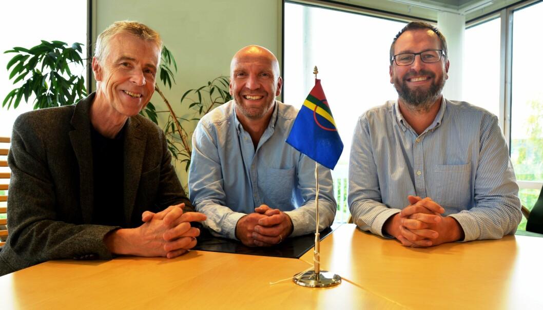 Fra venstre: Asbjørn Kolberg, Trond Risto Nilssen og Leiv Sem er noen av forskerne som skal delta på konferansen ved Nord universitet.  (Foto: Bjørnar Leknes)