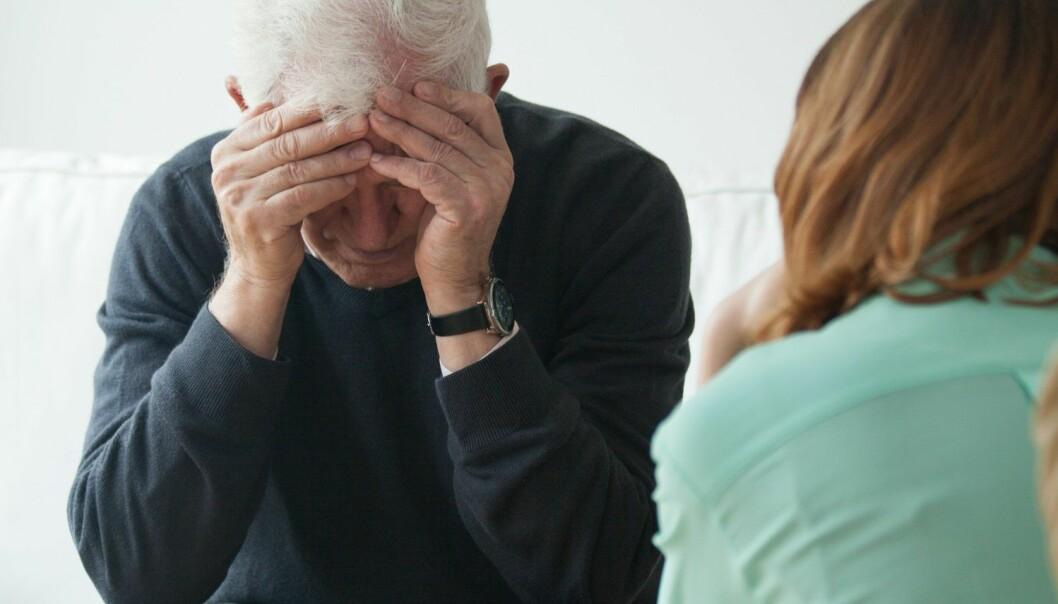 Eldre med psykiske problemer får ofte ikke god nok behandling. (Foto: Shutterstock / Scanpix)