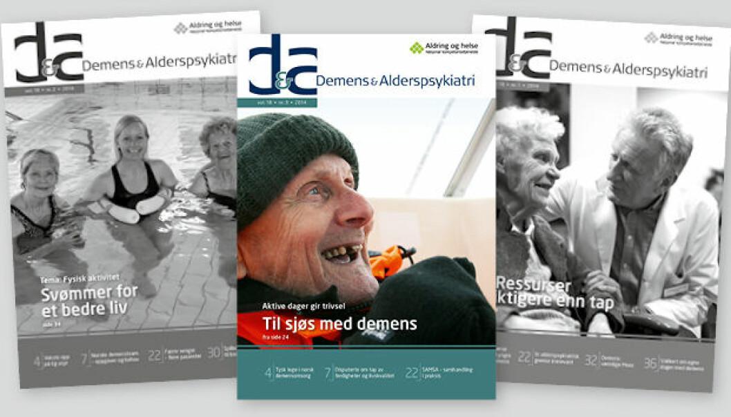 Demens og Alderspsykiatri er et fagblad for alle som arbeider innenfor, eller er engasjert i, norsk alderspsykiatri og demensomsorg.  (Foto: Aldring og Helse)