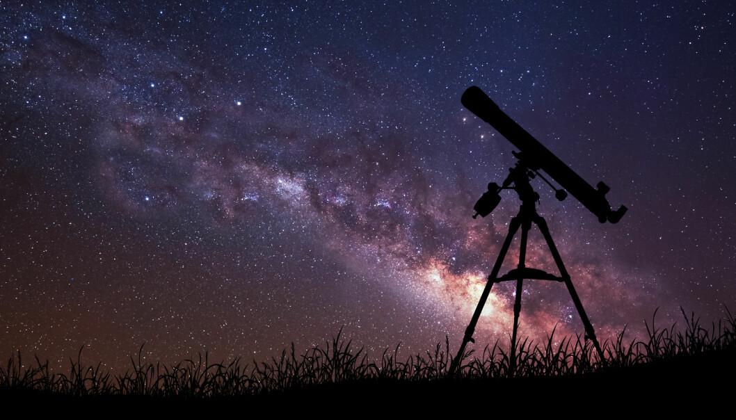 Den fjerne galaksen har blitt observert ved hjelp av en forstørrende effekt i verdensrommet. (Foto: Vadim Sadovski / Shutterstock / NTB scanpix)