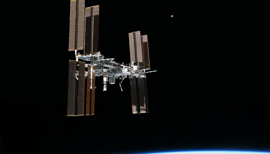 Den internasjonale romstasjonen.  (Foto: NASA)