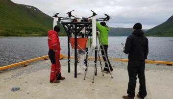 Vil fange kråkeboller med drone