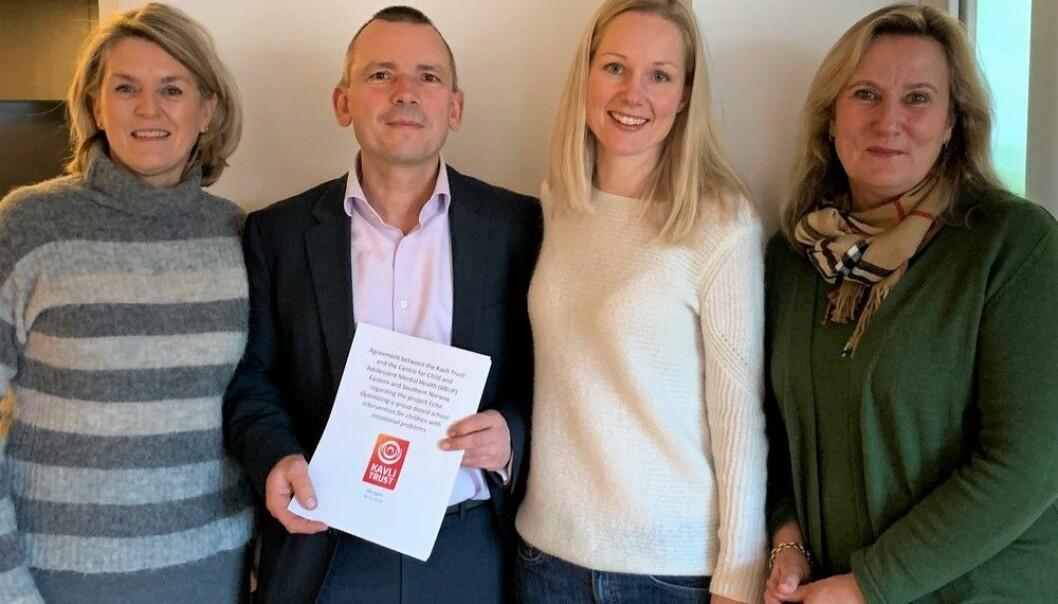 Echo Forskergruppe: Solveig Holen (seksjonsleder), Simon-Peter Neumer (nasjonal prosjektleder), Annette Jeneson (fagansvarlig forskningsstøtte) og Kristin Martinsen (lokal prosjektleder).