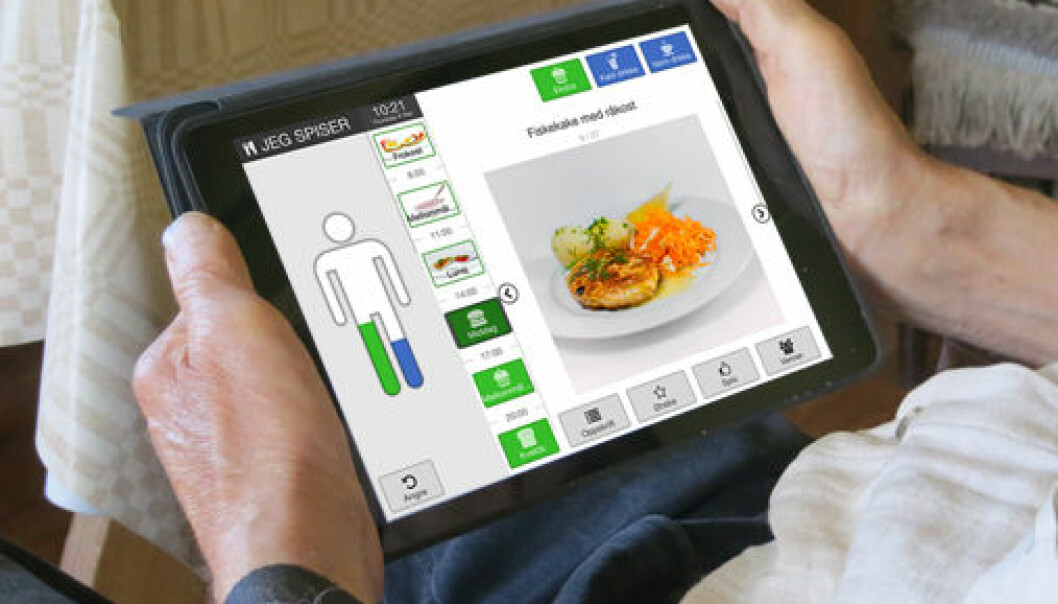Appen skal være lett å bruke for eldre, pårørende og helsepersonell.  (Foto: Anne Moen, UiO)