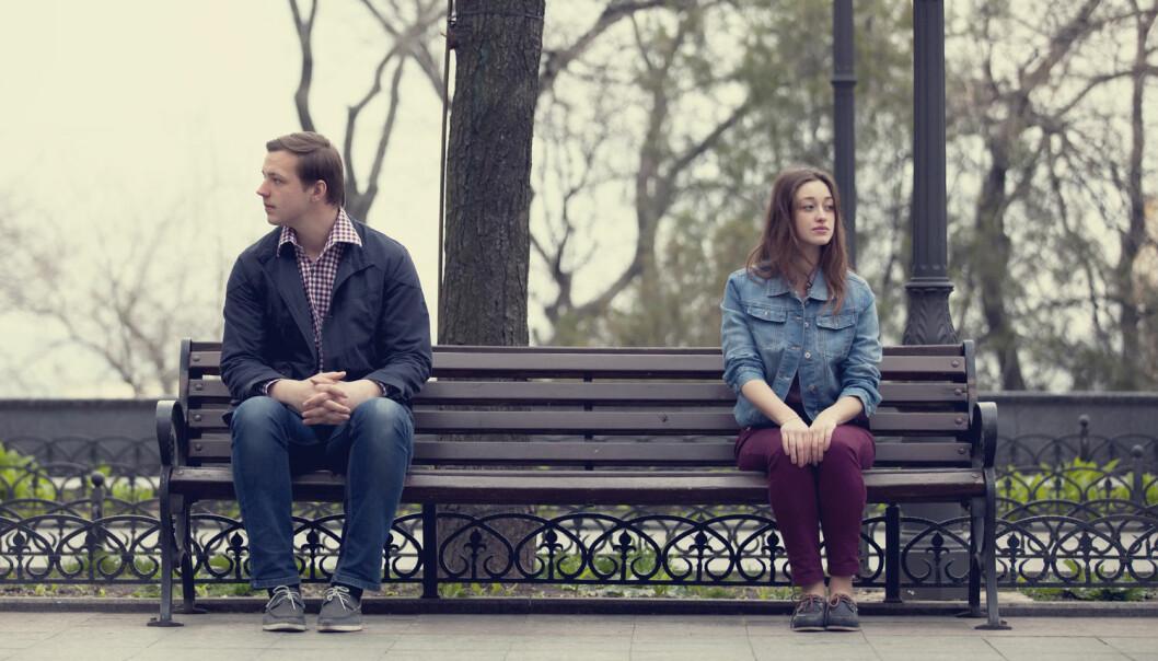 Når folk kjenner at partneren deres engasjerer seg mindre i forholdet enn de gjør, øker nivået deres av hormonet som bidrar til tettere bånd mellom mennesker.  (Illustrasjonsfoto: Masson / Shutterstock / NTB scanpix)