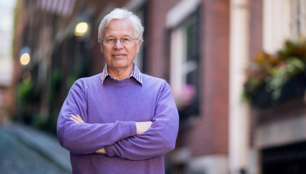 Saman med Oliver Hart vart Bengt R. Holmström i 2016 tildelt Sveriges Riksbanks pris i økonomi til minne om Alfred Nobel, ofte omtalt som nobelprisen i økonomi. (Foto: Bryce Vicmark)