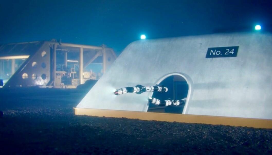 Denne skapningen skal testes og trenes i Trondheimsfjorden. (Foto: Eelume)