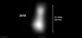 I fjor var dette det beste bildet som fantes av Ultima Thule. (Kilde: NASA/Johns Hopkins University Applied Physics Laboratory/Southwest Research Institute)