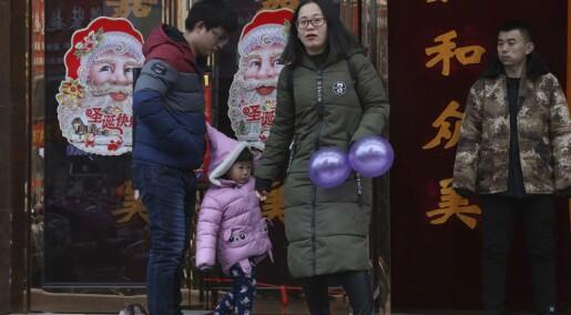 Færre kinesere for første gang på 70 år