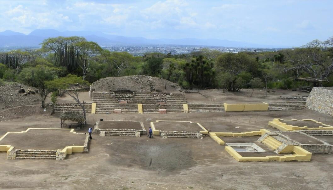 Tempelområdet der mennesker ble ofret og flådd til ære for den prekolumbiske guden Xipe Totec. (Foto: Meliton Tapia Davila / INAH / AP / NTB scanpix)