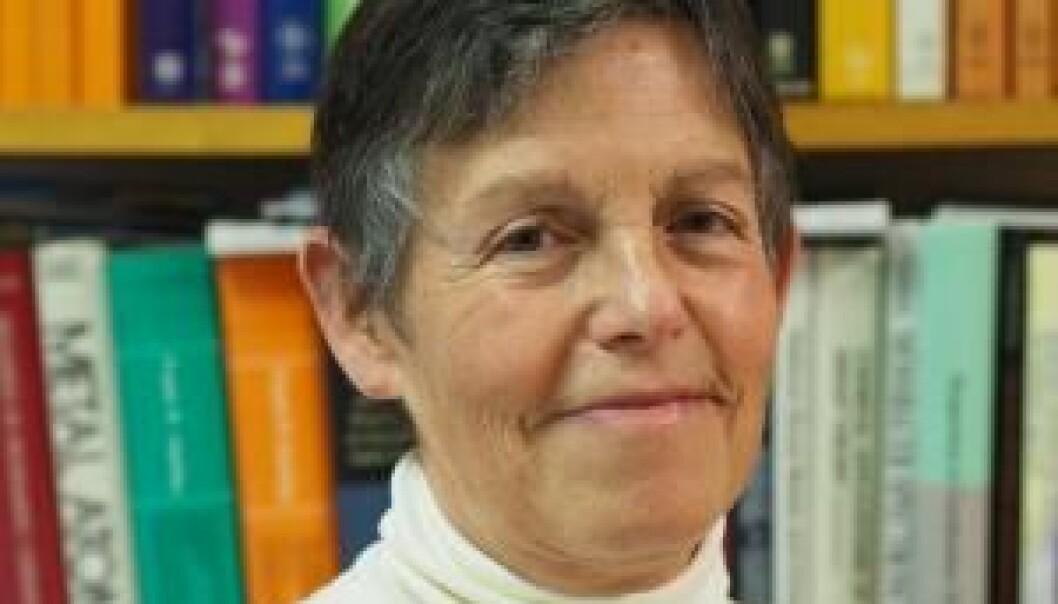 Odile Eisenstein er professor II ved Kjemisk institutt. En del av prisen er en tur for å forelese for studenter i Storbritannia.  (Foto: UiO)