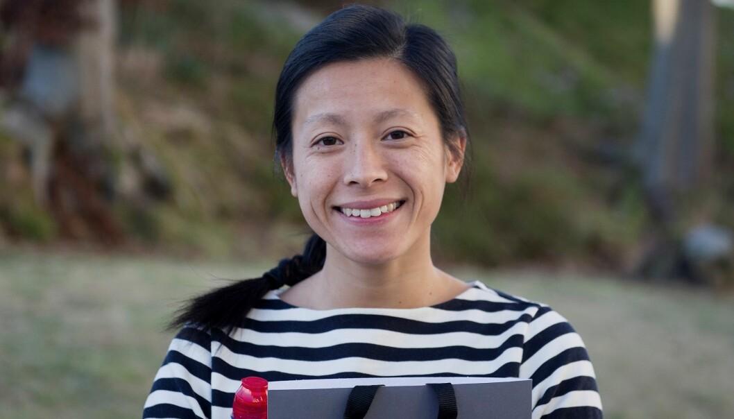 Stipendiat Mai Nguyen-Ones vant årets FIBE-pris for en vitenskapelig artikkel der hun tar for seg prisdannelsen ved norske bensinstasjoner. (Foto: NHH)