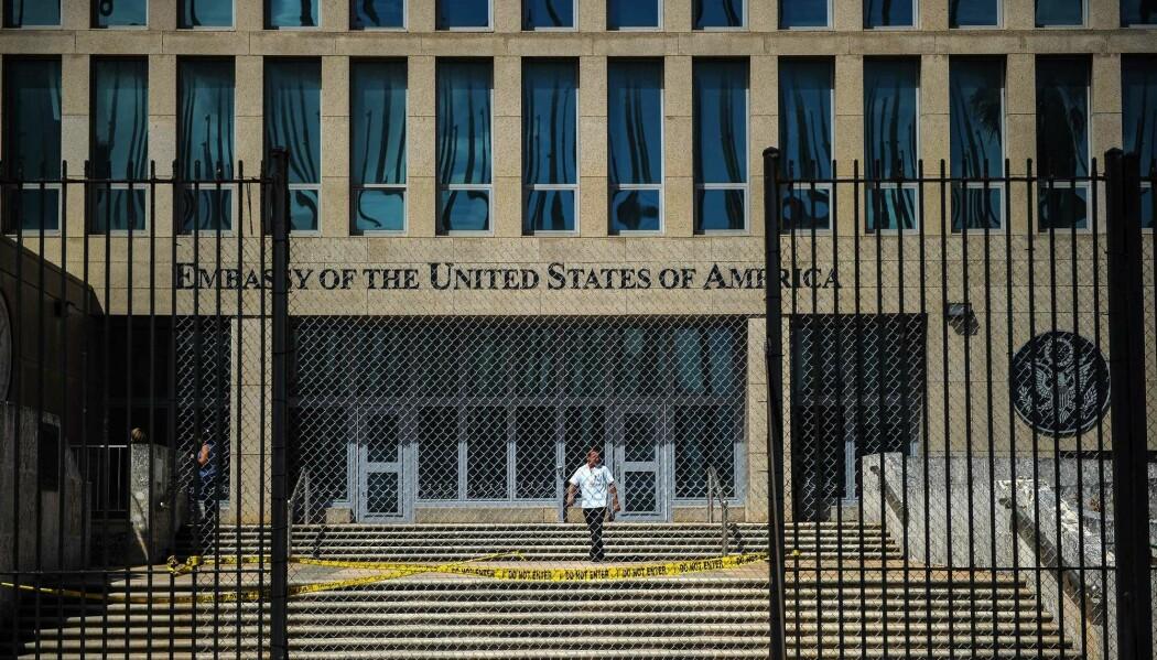 Den amerikanske ambassaden i Havanna på Cuba. (Foto: Yamil Lage / AFP/NTB scanpix)