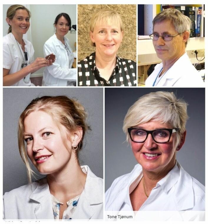 Linn-MC Brendefur, Patricia Merckoll, Anne O. Olsen, Fredrik Müller, Miriam Sare Ledal og Tone Tjønum.