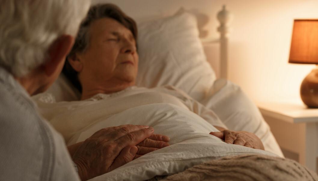 Bare 6 prosent av dem som har planlagt å dø hjemme får ønsket sitt oppfylt, viser norsk forskning. De som dør hjemme er i hovedsak unge menn med kreft. Eldre kvinner med sammensatte sykdommer og demens dør svært sjelden hjemme, bare rundt to prosent gjør det.(Foto: Shutterstock)