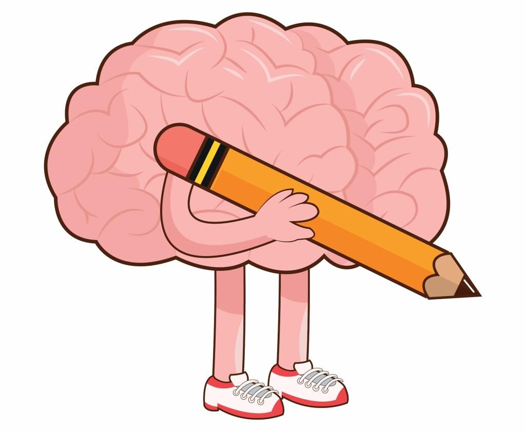 Forskere tror det er lettere for hjernen å huske det du tegner enn det du skriver. (Illustrasjon: Colourbox)
