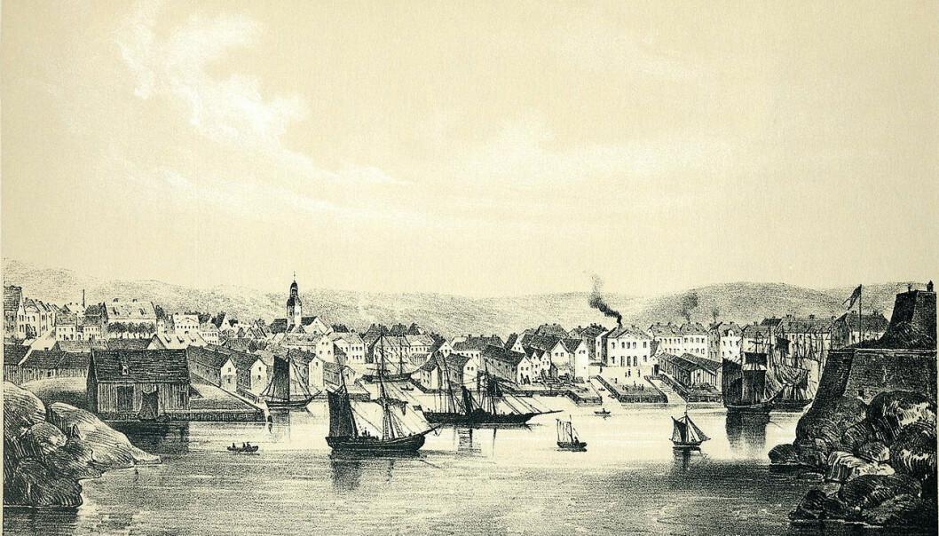 Skipsfarten på Sørlandet utviklet seg ikke i et vakuum, men i samspill med utenlandske aktører og det internasjonale markedet ifølge forfattere av boken «Sørlandsk skipsfart 1600-1920».  (Maleri: «Norge fremstillet i billeder» 1848 av Chr. Tønsberg)