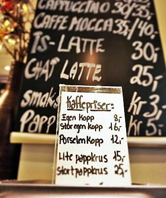 Noe så enkelt som å tilby billigere kaffe i kantine ved medbragt kopp, vil gi en påminnelse om å holde forbruket nede på jobben. (Foto: Ingeborg Flagstad)