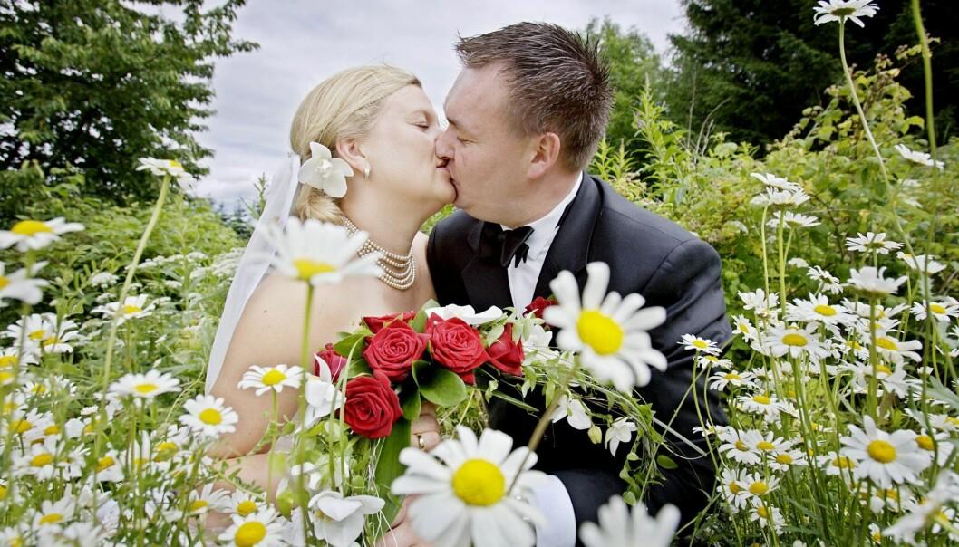 Totalt ble det inngått 20 785 ekteskap i Norge i 2018. Det er 6 prosent færre enn året før. (Foto: Stian Lysberg Solum / NTB scanpix)