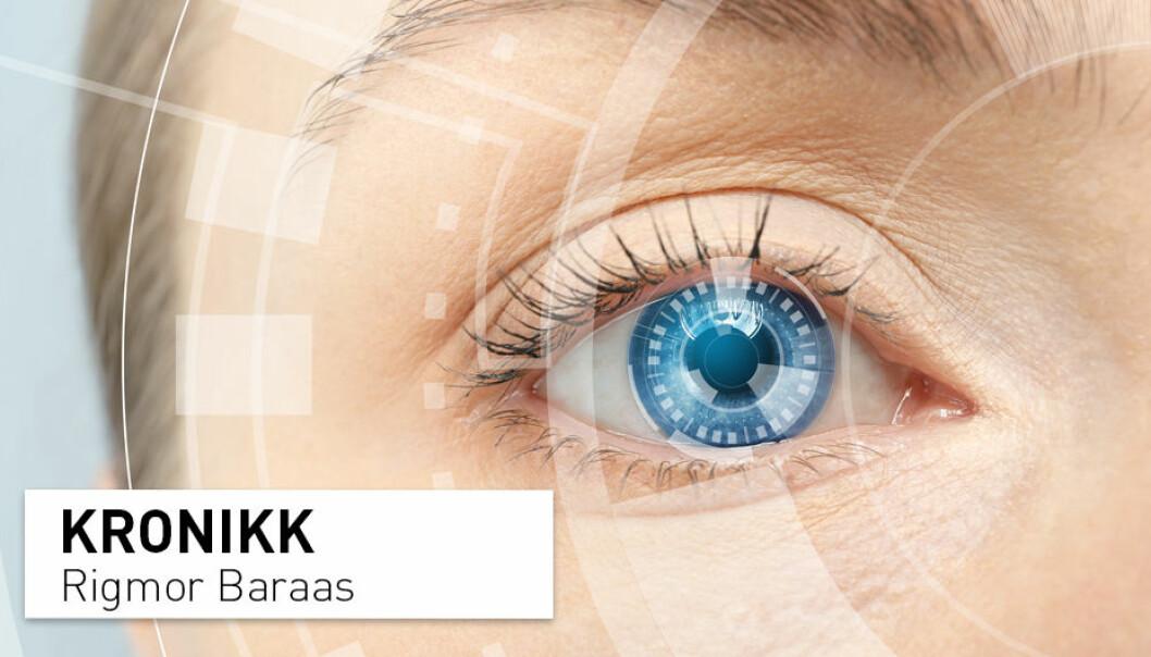 Det ligger fantastiske muligheter i å ta i bruk kunstig intelligens for bildegjenkjenning av sykdommer på øyets netthinne, skriver Rigmor Baraas. (Illustrasjonsfoto: Shutterstock / NTB Scanpix)