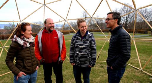 Lager kupler fylt med forurenset byluft i nytt kunstprosjekt