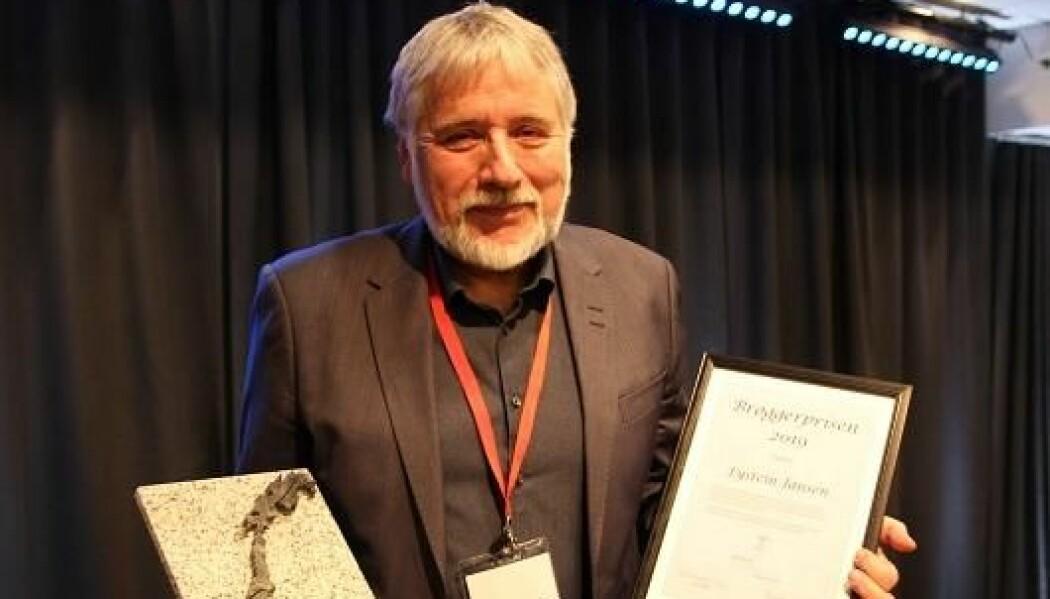 Under Norsk geologisk forenings Vinterkonferanse i Bergen mandag 7. januar 2019 ble Eystein Jansen tildelt Brøggerprisen. (Foto: Foto: Ronny Setså, Geoforskning.no)