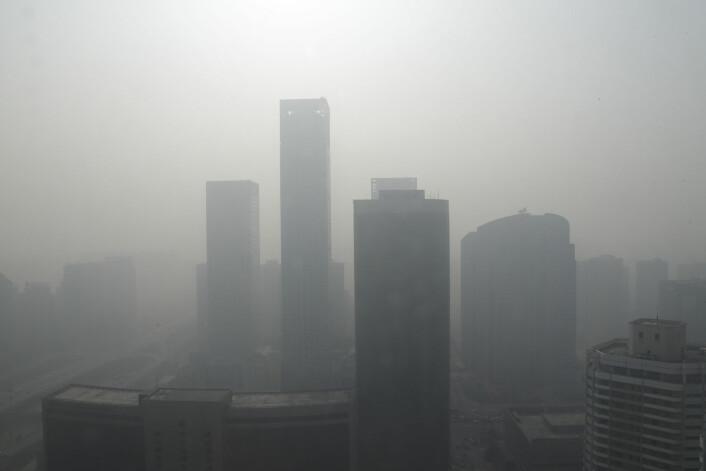 Så ille kan det bli i byer. Dette er Beijing i 2013. (Foto: (Illustrasjonsbilde: Jason Lee/Reuters/NTB Scanpix))