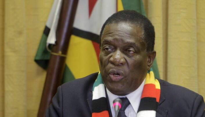 Emmerson Mnangagwa kom til makten etter et militærkupp i Zimbabwe i 2017. (Foto: AP / NTB scanpix)