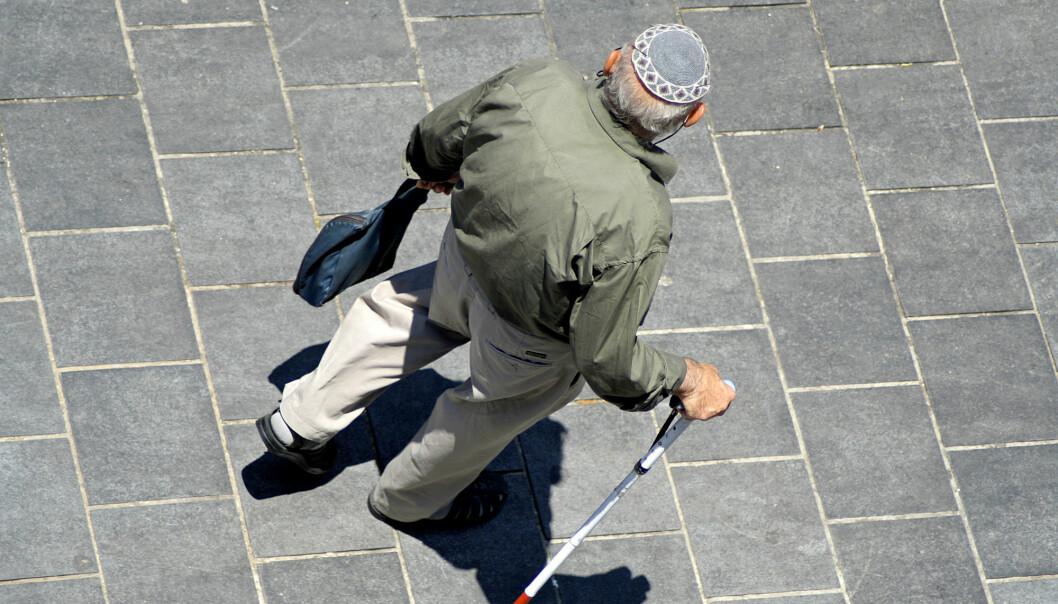 Eldre mann ved Klagemuren i Jerusalem. (Foto: Shutterstock)