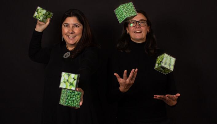 Antje Gonera og Paula Varela forsker på hva som skal til for å få forbrukere til å spise mer plantebasert. (Foto: Joe Urrutia © Nofima)