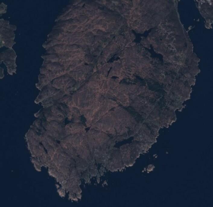 Sentinel-2 bilde fra lengst sør i landet vårt. (Bilde: Copernicus Sentinel data 2017)