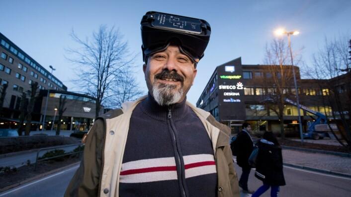 Ramzi Hassan har brukt VR til alt fra byutvikling til bevaring av kulturarv. (Foto: Håkon Sparre)