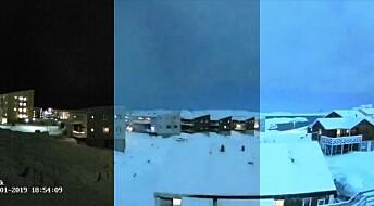 Meteor rett over Grønlands hovedstad: Se de fascinerende videoene