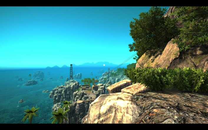 Spillet foregår over tre små øyer. (Foto: Skjermdump)