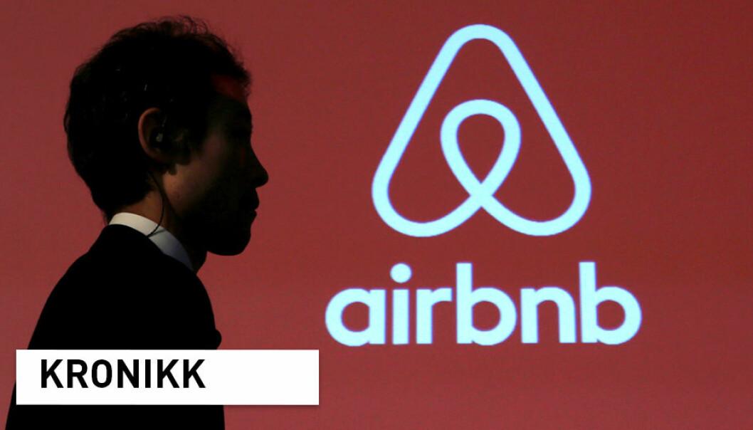 – Den manglende innsikten i hvordan webplattformer som Airbnb faktisk fungerer og hvordan de påvirker lokale forhold burde bekymre oss alle i langt større grad, skriver kronikkforfatterne. (Illustrasjonsfoto: Yuya Shino / Reuters / NTB Scanpix)