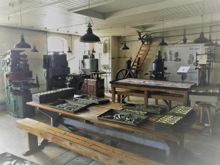 Diverse falsemaskiner fra TRIO på Norsk Hermetikkmuseum Foto: MUST/ Norsk hermetikkmuseum
