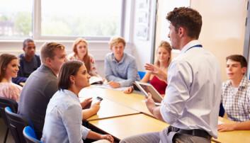 – Hvis ikke alle får lære retorikk på skolen, er det bare de som er født med talegaver, eller som har penger til å kjøpe seg retorisk kompetanse, som kommer til å påvirke samfunnet. Da får vi et veldig elitepreget samfunn, mener retorikk-ekspert. (Illustrasjonsfoto: Monkey Business Images / Shutterstock / NTB scanpix)