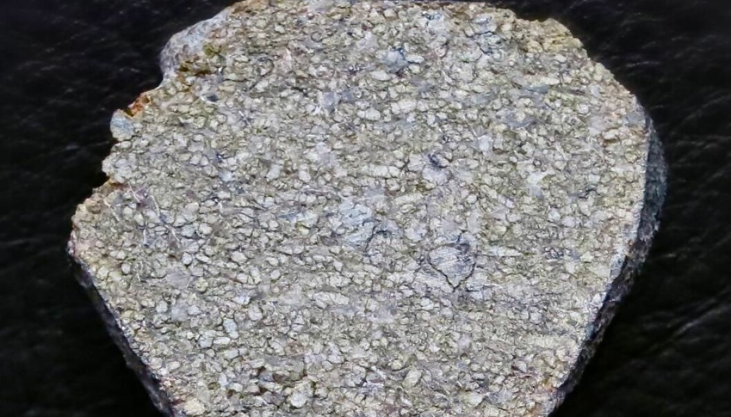 Denne steinen ble funnet i Marokko i 2011. Ifølge forskerne stammer den opprinnelig fra Mars. Men hvordan i all verden kan de vite det?  (Foto: Steve Jurvetson)