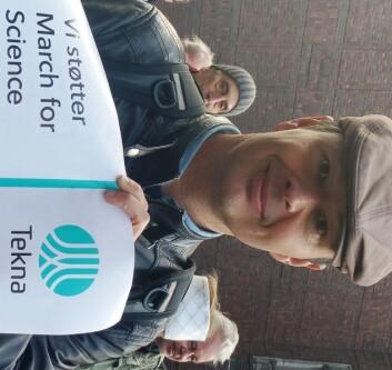 For klimaforskere er marsjen spesielt viktig, mener Rasmus Benestad. (Foto: Nina Kristiansen)