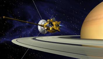 Sonden Cassini, slik NASA så den for seg rundt Saturn. (Bilde: NASA / JPL-Caltech)